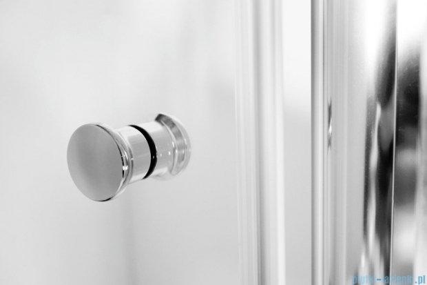 Besco Sinco drzwi prysznicowe wahadłowe 80x195 przejrzyste DS-80