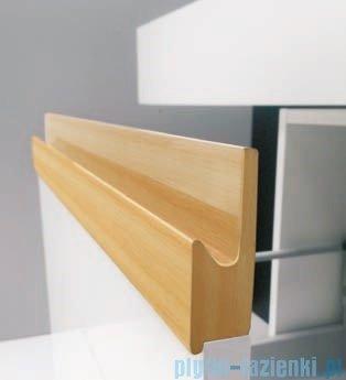 Antado Combi szafka prawa z blatem lewym i umywalką Bali biały/jasne drewno ALT-141/45-R-WS/dn+ALT-B/2L-1000x450x150-WS+UCS-TC-65