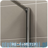 SanSwiss Melia MET1 ścianka prawa 80x200cm krople MET1PD0801044