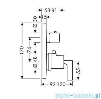 Hansgrohe Axor Citterio Bateria termostatyczna podtynkowa 39700000