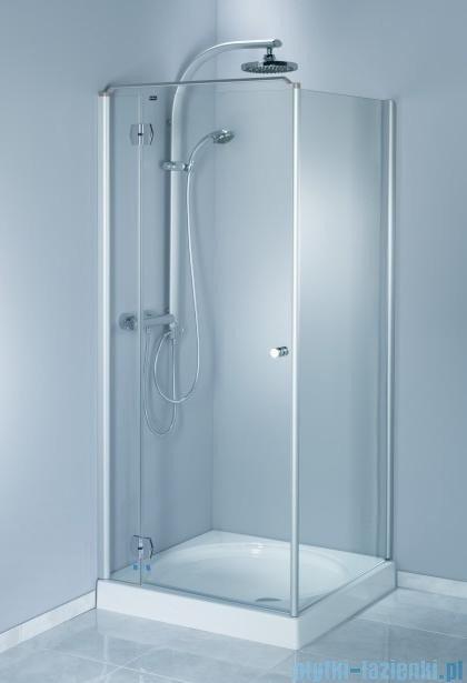 Aquaform Sol drzwi kabinowe do montażu ze ścianką De Luxe 100cm szkło przejrzyste lewe 06054