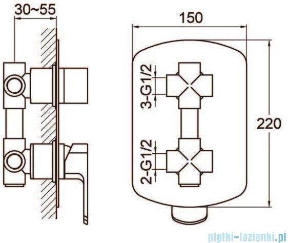Kohlman Foxal zestaw prysznicowy chrom QW211FQ40-009
