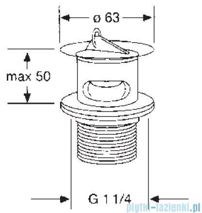 Kludi Zawór trzpieniowy G 1 1/4 chrom 104270500