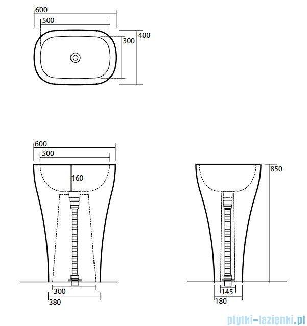 Kerasan Umywalka stojąca 60 cm Aquatech 3742