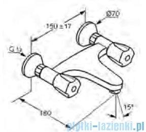 Kludi Standard Bateria ścienna umywalkowa DN 15 chrom 320040515
