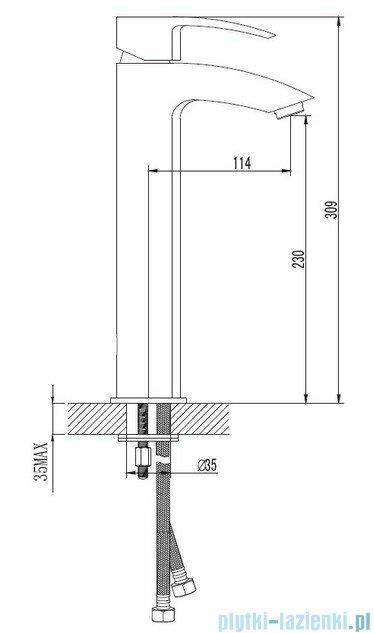 Omnires Murray bateria umywalkowa sztorcowa wysoka chrom MU6112