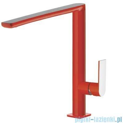 Tres Loft Colors Bateria umywalkowa z korkiem automatycznym kolor czerwony 200.205.03.RO.D