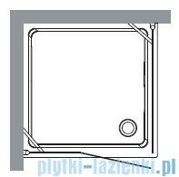 Kerasan Kabina kwadratowa prawa szkło piaskowane profile brązowe 100x100 Retro 9149S3