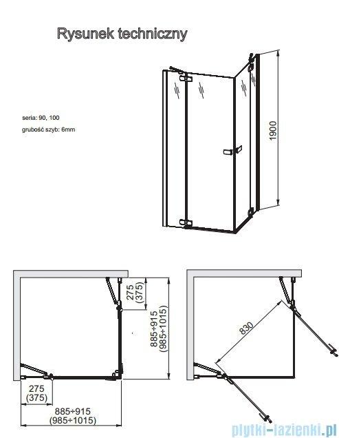 Aquaform Verra Line kabina kwadratowa 100x100cm przejrzyste 101-09333