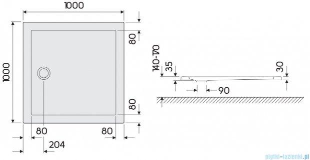 Koło Terra Brodzik 100cm kwadratowy XBK1710000