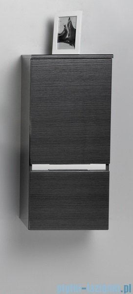 Antado Cantare Słupek niski wiszący z szufladą 40x33x88  lewy, grafit- fino FSM-394GTL-46/46
