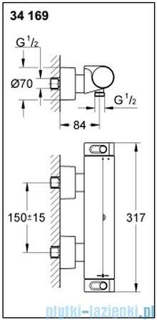 Grohe Grohtherm 2000 NEW bateria prysznicowa z termostatem DN 15 34169001