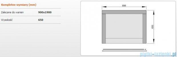 Sanplast Obudowa krótka do wanny Altus prostokątnej, OWP-ALT/EX D-M 90 cm merbau 620-120-0260-20-000