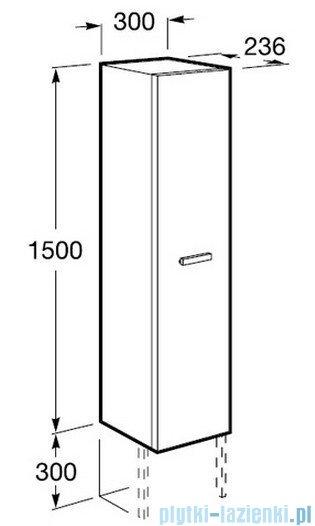 Roca Victoria Kolumna wysoka 150cm obustronna z półkami wenge A856577201