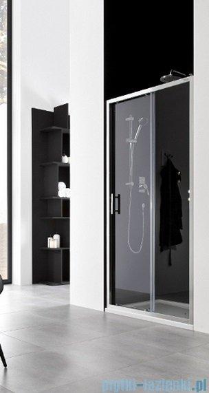 Roca Town Drzwi do wnęki prysznicowej 2częściowe 110 110x195,5cm szkło przezroczyste AMP181101M