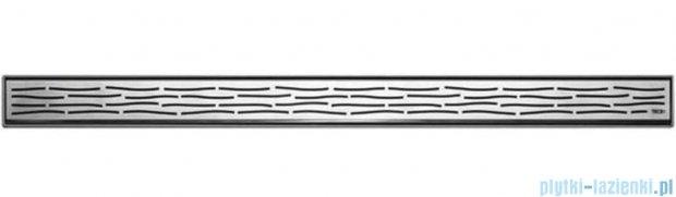 Tece Ruszt prosty Organic ze stali nierdzewnej Tecedrainline 100 cm stal szczotkowana 6.010.61