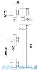 Paffoni  Bateria natryskowa Effe chrom EF168CR