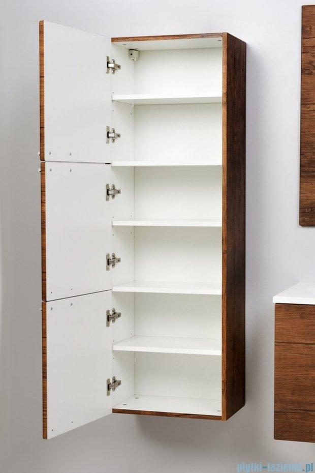 Antado Sycylia Szafka wisząca 3-drzwiowa 45x30x135 stare drewno KTS-163-50