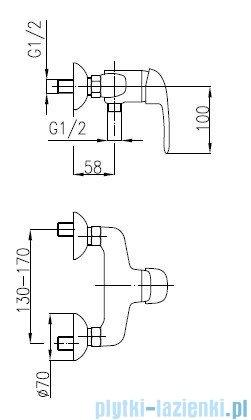 KFA ALBIT Bateria natryskowa ścienna 4606-010-00
