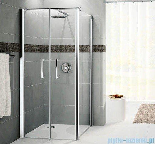 Novellini Drzwi prysznicowe GIADA 2B 84 cm szkło przejrzyste profil biały GIADN2B84-1A