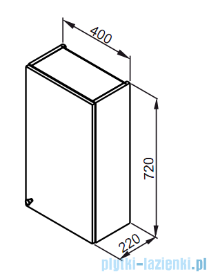 Aquaform Maxi II szafka wisząca 40cm biały 0410-260100