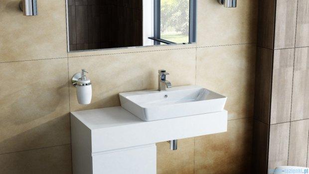Antado Combi szafka z blatem i umywalką Bali biały/ciemne drewno ALT-140/45GT-WS/dp+ALT-B/2C-1000x450x150-WS+UCS-TC-65