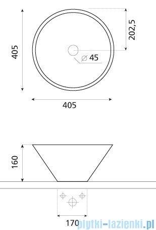 Bathco umywalka kamienna nablatowa Conico negro 40,5x16 cm 00306