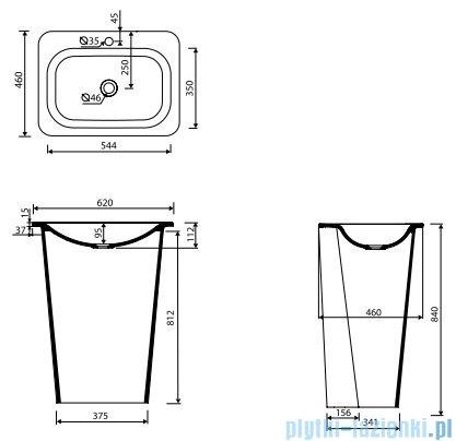 Marmorin Tytan umywalka stojąca przyścienna biała 650062020010