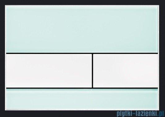 Tece Przycisk spłukujący ze szkła do WC Tecesquare szkło zielone przyciski białe 9.240.803