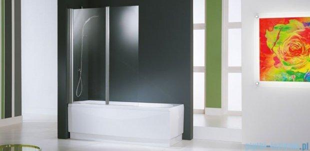 Novellini Parawan Aurora2 120x150cm profil srebrny szkło aqua AURORAN2-2B