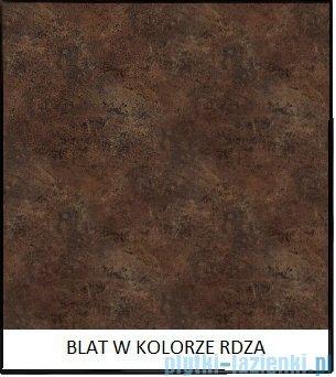 Antado Susanne szafka biała z blatem brąz 95x46cm AS-140/95-WS+AS-B-140/95-70