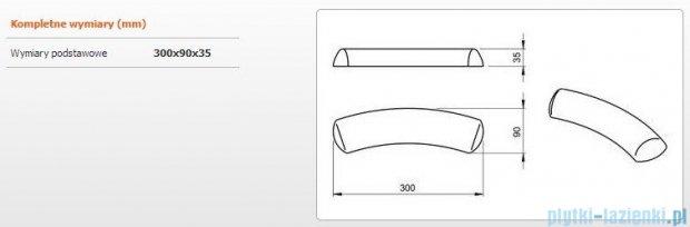 Sanplast Zagłówek żelowy - czarny 300x90 mm 661-A0020-43