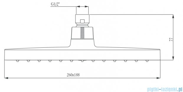 Deante Box głowica natryskowa prostokątna chrom NAC 036K