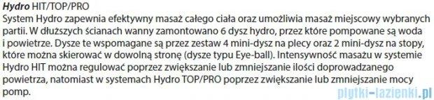 Riho Geta Wanna asymetryczna 160x90 lewa z hydromasażem TOP Hydro 6+4+2 BA87T2