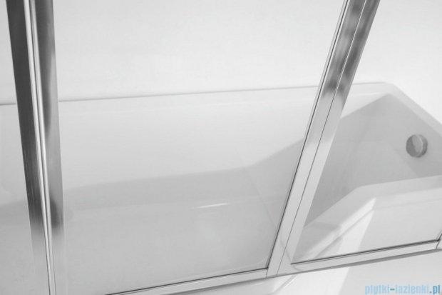 Besco Integra 150x75cm Wanna asymetryczna Lewa + parawan 3-skrzydłowy #WAI-150-PL3