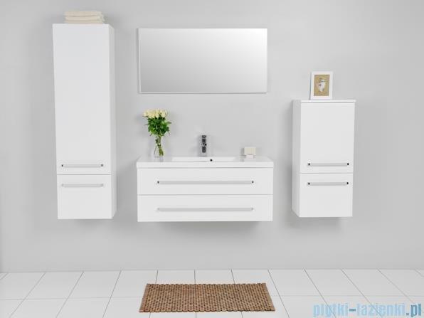 Antado Variete Szafka podumywalkowa wisząca z dwiema szufladami 100x39x40 biały połysk FM-C-442/10/2
