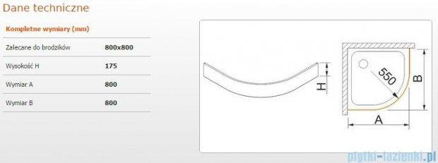 Sanplast Obudowa brodzika OBP 80x80x17,5 cm 625-403-0420-01-000