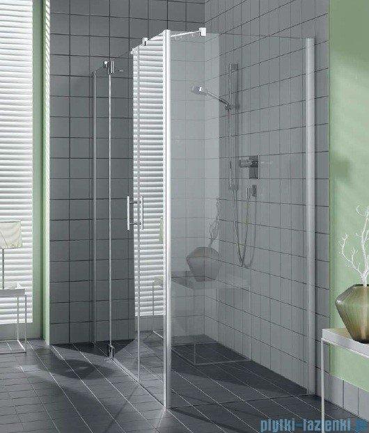 Kermi Filia Xp Ściana boczna, szkło przezroczyste KermiClean, profile srebrne 90x200cm FXUWD09020VPK