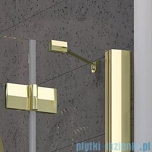 Radaway Almatea P GOLD kabina półokrągła przyścienna 100x90 szkło grafitowe 30722-09-05N