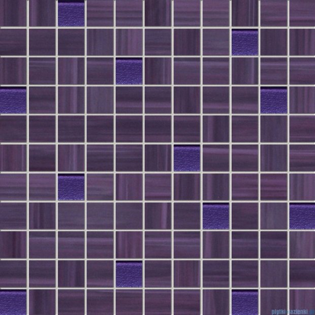 Tubądzin Wave violet mozaika ścienna 30x30