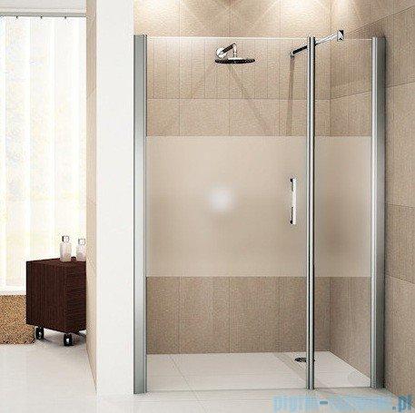Novellini Drzwi do wnęki z elementem stałym GIADA G+F 162 cm lewe szkło przejrzyste profil srebrny GIADNGF162S-1B