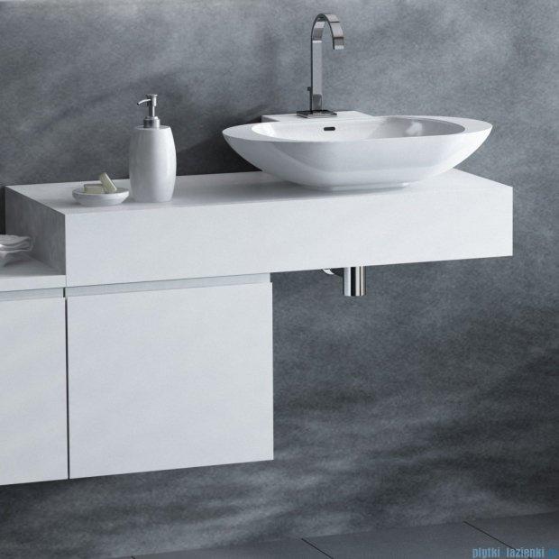 Antado Combi szafka z blatem prawym i umywalką Mia biały/ciemne drewno ALT-140/45GT-WS/dp+ALT-B/1R-1000x450x150-WS+UCS-TC-60