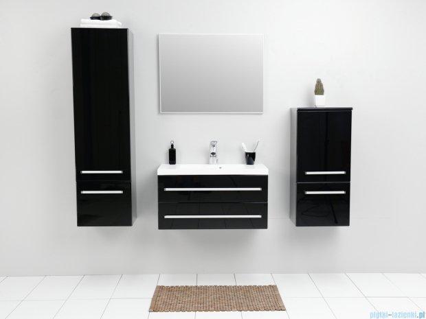 Antado Variete szafka z umywalką, wisząca z dwiema szufladami 80x39x40 czarny połysk FM-C-442/8/2GT-9017 + UMMC-800x390