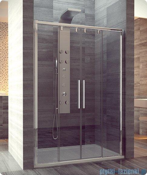 SanSwiss Pur Light S PLS4 Drzwi rozsuwane 180cm profil biały szkło przejrzyste PLS41800407