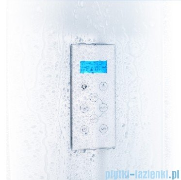 Duschy Kabina z hydromasażem szkło niebieskie 80x80cm model 6006