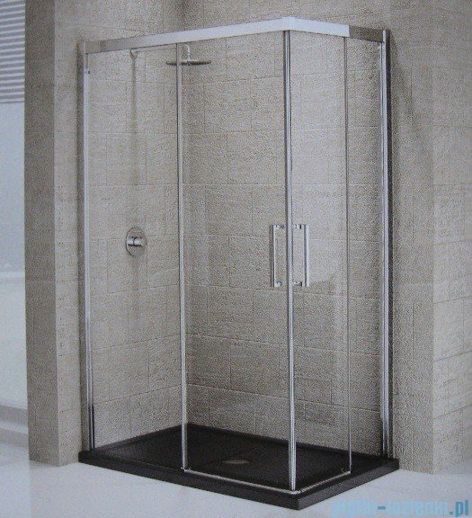 Novellini ElysiumŚcianka prysznicowa KUADRA A 72 lewa szkło przejrzyste profil chrom KUADA72LS-1K