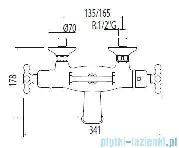 Tres Monoclasic 1900 Bateria termostatyczna wannowa kolor chrom 032.176.09
