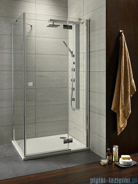 Radaway Kabina prysznicowa Almatea KDJ 100x90 prawa szkło grafitowe + brodzik Doros D + syfon 32143-01-05NR