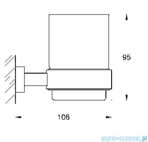 Grohe Essentials Cube uchwyt kubka dozownika lub mydelniczki 40508000