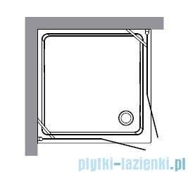 Kerasan Retro Kabina kwadratowa szkło piaskowane profile brązowe 90x90 9145S3